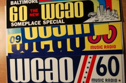 Vintage 70's 4 WCAO Radio Decals Stickers - Autocollants