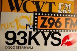 Vintage 70's 4 Radio Decals Stickers - Autocollants