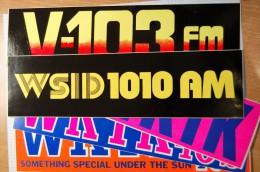 Vintage 70's 5 Radio Decals Stickers - Autocollants