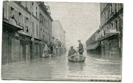 CPA  75  :   PARIS Inondation 1910 Rue  Surcouf  VOIR  DESCRIPTIF   §§§ - Paris Flood, 1910