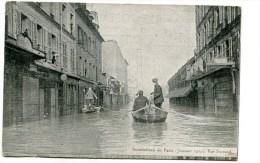 CPA  75  :   PARIS Inondation 1910 Rue  Surcouf  VOIR  DESCRIPTIF   §§§ - Inondations De 1910
