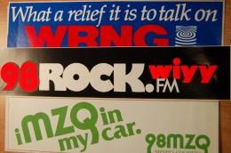Vintage 70's 3 Radio Decals Stickers - Autocollants