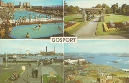 GB - Ha - Gosport - Multiview : Foster Gardens,, Ferry, Bathing Pool, Portsmouth Harbour - N° PLC2735  (1972) - Angleterre
