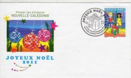 Nouvelle Calédonie - Oblitération 1er Jour NOUMEA - Joyeux Noel - Lettres & Documents