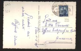 4193-Da Selva Val Gardena Ad Ancona 11/5/1948 Con L.5 Democratica Isolato - 6. 1946-.. Republic