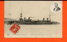 """Bâteau - Marine Nationale - """"Condé"""" , Croiseur Cuirassé - Guerre"""