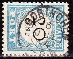 1881-1887 Portzegels Lichtblauw / Zwart Cijfer : 20 Cent NVPH  P 10 D III Met Kleinrondstempel GORINCHEM - Tasse