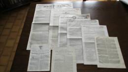 LOT N° 3 - ANCIENS JOURNAUX - DE L´ANCIEN REGIME à LA MONARCHIE DE JUILLET-DE LOUIS XV à LOUIS-PHILIPPE. - Journaux - Quotidiens