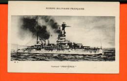 """Bâteau - Marine Militaire Française - Cuirassé """" Provence"""" - Guerre"""