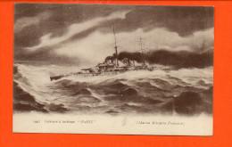 """Bâteau - Cuirassé à Turbines """"PARIS"""" (marine Militaire Française) - Guerre"""