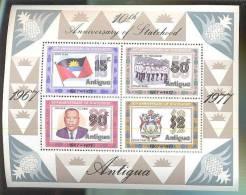 MNH ANTIGUA #494A : MINI SHEET OF STATHOOD ;  FLAG POLICE BAND COAT OF ARMS - Antigua E Barbuda (1981-...)