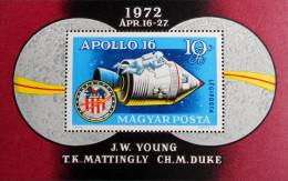VOL SPATIAL APOLLO 16 - 1972 - NEUF ** - YT BL 99 - MI BL 93A - Hongrie