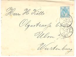 10 JUL 05 Envelop G9 Met Grootrond BOXTEL Naar Ulm - Postal Stationery