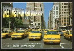 K11 /  ETATS UNIS  CPSM NEW YORK TAXI SQUAD IN MANHATTAN NEUVE VOIR DOS - Taxis & Cabs