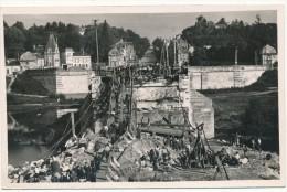 TOURS - Carte Photo - Le Pont De Pierre Et La Tranchée, Bombardements 1944 - Tours