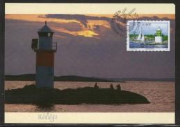 LEUCHTTURM PHARE  FARO LIGHTHOUSE BALTIC SEA - RÖDLÖGA - STOCKHOLMS ARCHIPELAGO SWEDEN 2004 MAXIMUM MAXI CARD CARTE - Leuchttürme