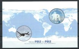 Groënland 2014, Bloc Neuf, Pôle To Pôle Ours Et Pingouin - Blocks & Sheetlets