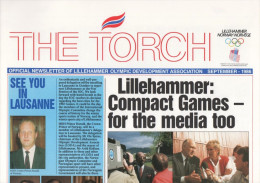 NORWAY LILLEHAMMER 1986 - XVII OLYMPIC WINTER GAMES LILLEHAHAMMER ´94 - THE TORCH - NEWLETTER SEPTEMBER 1986 - Libros