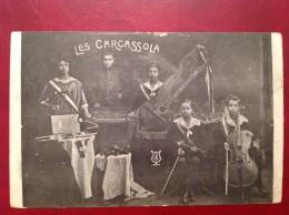LES CARCASSOLA Animateurs, Danseurs, Musiciens Publicité Pour Concerts(verso) - Artistes