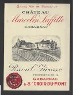 Etiquette De Vin -  Chateau Marcelin Lafitte  -  Première Côtes De Bordeaux  -  ND 60/70 - Bordeaux