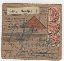 Deutsches Reich Michel No. 342 auf Paketkarte
