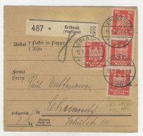 Deutsches Reich Michel No. 357 auf Paketkarte