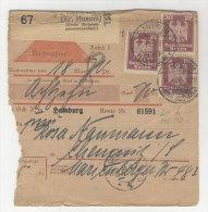 Deutsches Reich Michel No. 359 auf Paketkarte