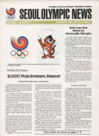 SOUTH KOREA 1984 - SEOUL OLYMPIC NEWS - NEWSLETTER OF THE 24th OLYMPIC GAMES SEOUL 1988 - VOL. 1 # 1 - JANUARY 1984 - Libros