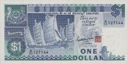 Singapore 1 Dollar 1987 Pick 18a UNC - Singapore