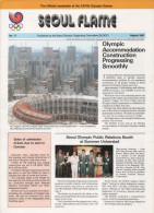 SOUTH KOREA 1987 - SEOUL FLAME - OFFICIAL NEWSLETTER OF THE 24th OLYMPIC GAMES SEOUL 1988 - # 17 - AUGUST 1987 - Libros