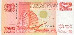 Singapore 2 Dollar 1990 Pick 27 UNC - Singapour