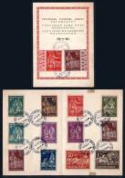 Ukrainien Camp Post Regensburg Commemorative Folder With 14 Perf & Imperf Stamps Horses Horse - Ucraina