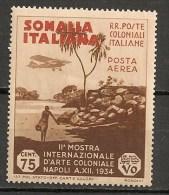 Timbres - Italie - Colonies Et Possessions - Somalie - POSTA  AEREA - 1934 - 75 Cent.- - Somalie