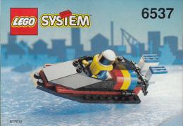 Lego 6537 Hors bord avec plan 100 % Complet voir scan