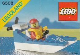 Lego 6508 Hors Bord Avec Plan 100 % Complet Voir Scan - Lego System