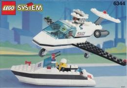 Lego 6344 Police patrouille de port avec plan 100 % Complet voir scan