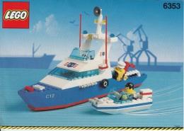 Lego 6353 Patrouille de port avec plan 100 % Complet voir scan