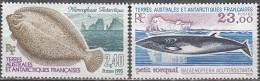 TAAF 1995 Yvert 196 - 197 Neuf ** Cote (2015) 12.75 Euro Mancoglosse Antarctique / Petit Rorqual - Neufs