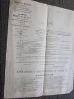 Rare PARIS 1883 Document Publicitaire à En-tête Commerciale Publicité époque Robin Anti Calcaire Spécialités Froideville - France