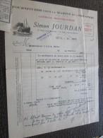 CETTE Séte 25 Avr 1938 Facture à En-tête Commerciale Illustrée+récépissé Simon Jourdan Marine Et Industrie Shipchander - 1900 – 1949