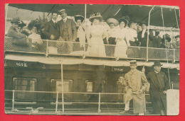 "157484 / Croatia - OPATIJA "" PHOTOGRAFIE PAVILLON "" ABBAZIA 29.9. 1909 - WALK FASHION PEOPLE SHIP  Italia Italy Italie - Unclassified"