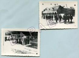 2 Photos De Funérailles De Soldats De La Grande Guerre - Guerre, Militaire