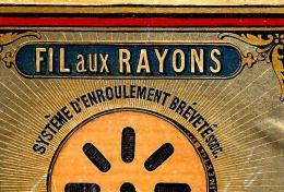 RARE ETIQUETTE PUBLICITAIRE SF SCRIVE FRERES FIL AUX RAYONS  T.B.E. V.SCANS+ HISTORIQUE - 1800 – 1899