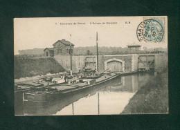 Environs De Douai (59) - Ecluse De Goeulzin ( Batellerie Peniche Fuero Maulden Correpondance Batelier Blondeaux E.B) - Altri Comuni