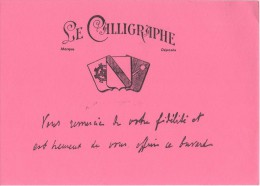 BUVARD -  Le Calligraphe - Buvards, Protège-cahiers Illustrés