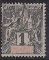 Groupe Colonies Légende Océanie, 1c Noir - Oblitérés
