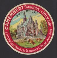 Etiquette De Fromage  Camembert  - Chapelle St Louis  -  Coop. Agric. Lait. De Champigny Sur Veude ( 37) - Cheese