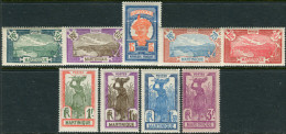 Martinique 1927. Yvert #120/28 MNH/Luxe  (TS23) - Martinique (1886-1947)