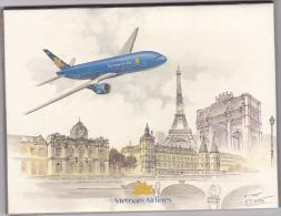 Set Of Vietnam Airlines Post-cards , 12 Cards , 80-90s - Vietnam