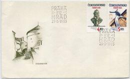 CZECHOSLOVAKIA 1983 Prague Castle  Set Of 2 On FDC.  Michel 2721-22 - FDC